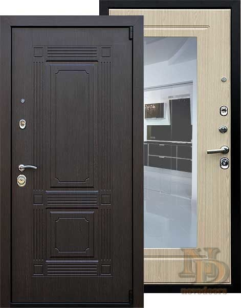 металлические двери с зеркалом и балашихе