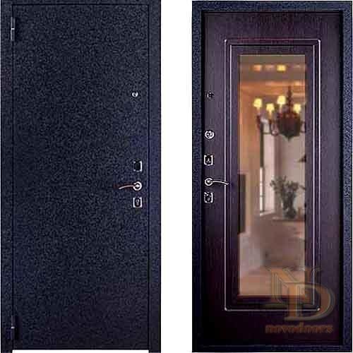 выбрать металлическую дверь в квартиру с зеркалом внутри